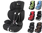 Clamaro 'Guardian' Kinderautositz 9-36 kg Kopfstütze verstellbar mitwachsend, Auto Kindersitz für Kinder von 1-12 Jahre, Gruppe 1/2/3, ECE R44/04, Farbe: Schwarz